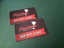 (2) $50 Dollar Gift Cards for SULLIVAN'S Steakhouse in Wheaton, Illinois