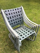 Set of 4 woven green chairs in Aurora, Illinois