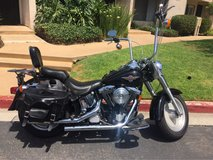 Harley Davidson Fat boy in San Ysidro, California