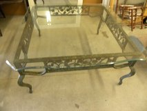 COFFEE   TABLE---Beautiful  Wrought Iron  &  Sculptured Glass in Camp Lejeune, North Carolina