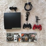 PS3 (U.S., HDMI cable, 2 controllers, 4 games) in Okinawa, Japan