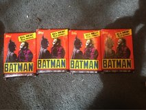 4 unopened sets of Topps Batman Cards. in Los Angeles, California