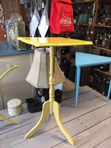 Yellow shabby Chic Table/stand in Byron, Georgia