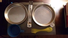 Barely Used Aluminum Mess Kit Camping Cookware in Naperville, Illinois