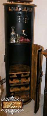 Mango Wine Cabinet with Metal Casing in Ramstein, Germany