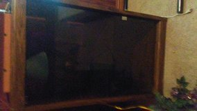 2 tv stands one tall with glass one short without glass in Fort Bragg, North Carolina