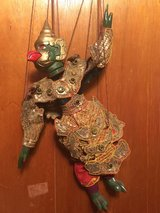Vintage Ornate Thailand Burma Siamese Wooden Painted Puppet Marionette Doll in Los Angeles, California