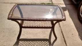 Brown Wicker Outdoor Coffee Table in Spring, Texas