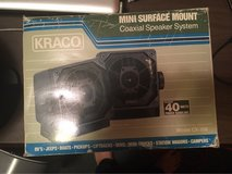 Vintage Kraco Coaxial Speaker System Mini Surface Mount Model CX-300 in Los Angeles, California