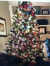 BEAUTIFUL CHRISTMAS TREE -7.5' PRE LIT in Chicago, Illinois
