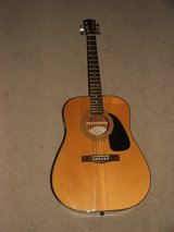 Squire Acsuistic Guitar by Fender Natural Mahogany Color / Soft Case in Batavia, Illinois