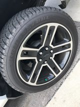 selling 22 inch chevy black rims and 285/45/22 bridgestones in Fort Bragg, North Carolina