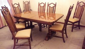 DINING ROOM SET, TABLE WITH LEAF-42 in x 84 in, 8 CHAIRS, CHINA CABINET-62 in x 80 in. in Mobile, Alabama