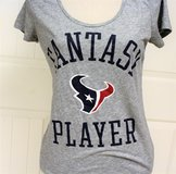 PINK NFL Victoria's Secret HOUSTON TEXANS Med Gray Fantasy Player Women Knit Top in Houston, Texas
