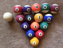 Vintage Set Of Pool Billiard Balls in Naperville, Illinois