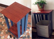 Repurposed Crate End Table/ Nightstand in Vicenza, Italy