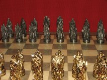 Wizards With Magical Crystals Fantasy Pewter Chess Pieces in Batavia, Illinois