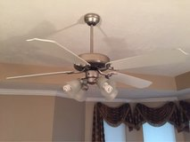 Brushed nickel ceiling fan in Conroe, Texas