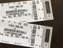 Nationals Tickets, 8 August in Bolling AFB, DC