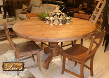 Teak Round Table in Ramstein, Germany