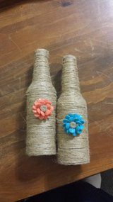 Twine covered bottles in Cherry Point, North Carolina