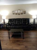 Beautiful black glass coffee table and end tables in Tacoma, Washington