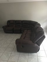 Leather sectional in Fort Rucker, Alabama