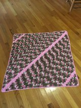 Handmade Crocheted Girls Pink Camo baby throw 37inches by 37 inches in Camp Lejeune, North Carolina