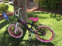 Hello kitty bike in Nellis AFB, Nevada