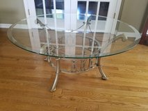 Round glass coffee table in Westmont, Illinois