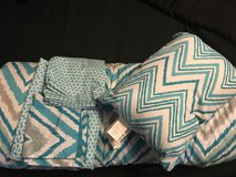 Bedding twin set(Mainstays Watercolor Chevron) in Kingwood, Texas