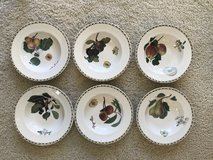 Royal Horticulture Society-Hookers Fruit - 6 China Soup Bowls in Lockport, Illinois
