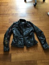 HD Switch-back Leather Jacket in Camp Pendleton, California