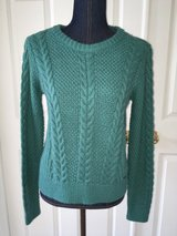 Junior's Hollister Cable Knit Wool Sweater size XS Turquoise Green New with Tag! in Oswego, Illinois