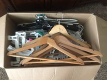 Box full of hangers in Spring, Texas