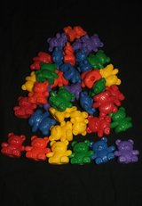 Teddy bear Counting with a Rainbow of colors Large Bears NEW in Batavia, Illinois