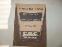 1939-51 GMC Truck light duty Motor Parts Book for 100-370 series in Naperville, Illinois