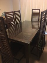Asian Teak wood dinning table and 6 Chairs in Okinawa, Japan