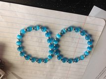 Set of 2 blue bead bracelets in Manhattan, Kansas