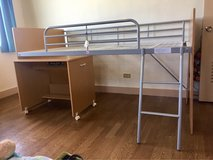 Bunk bed with desk in Okinawa, Japan