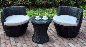 Wicker Outdoor Patio Set - Black in Nellis AFB, Nevada