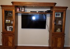 Solid wood entertainment center in The Woodlands, Texas