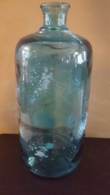 large light blue glass vase in Oswego, Illinois