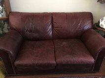 Two leather couches in Fairfield, California