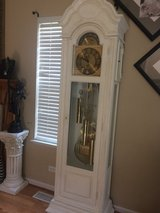 Antique RIDGEWAY white rare & unique grandfather clock!! AMAZING CHIMES!! in Oswego, Illinois