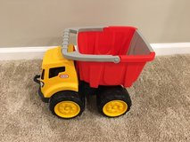 Toy dump truck in Bartlett, Illinois