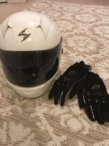 Women's bike helmet with gloves in Fort Campbell, Kentucky
