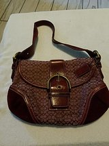 Coach burgundy purse (Authentic) in Hinesville, Georgia