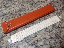 Slide Rule with Leather Case in Macon, Georgia