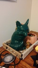 New Trendy Green Porcelain Cookie Jar Fox From Target in Lockport, Illinois